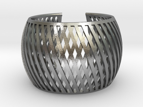 Bracelet Brace line  in Natural Silver