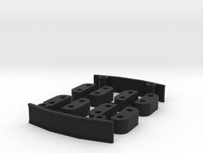 Zmr250 Spacers Kit V2 in Black Natural Versatile Plastic