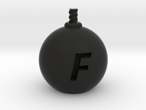 F-Bomb - XL  in Black Natural Versatile Plastic