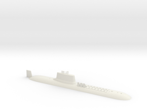 1/700 Typhoon Class SSBN (Waterline) in White Natural Versatile Plastic