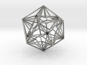 Great Dodecahedron in Natural Silver