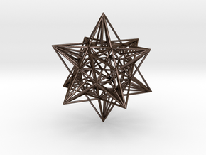 Great Icosahedron in Polished Bronze Steel
