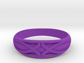 Size 8 L Ring  in Purple Processed Versatile Plastic