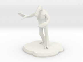 Amiably Chaotic Figure in White Natural Versatile Plastic