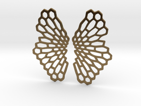 Honeycomb Butterfly Earrings / Pendant in Natural Bronze