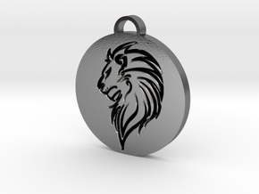 Lion Pendant in Polished Silver