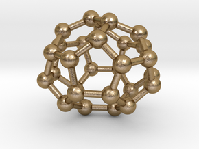 0004 Fullerene c28 d2 in Polished Gold Steel