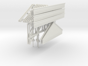 Platform Canopy 280mm long (without roof) in White Natural Versatile Plastic