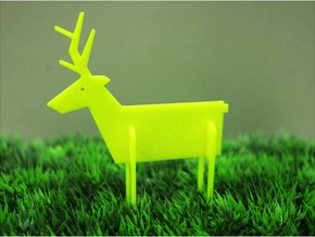 Animal_Deer in White Natural Versatile Plastic