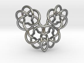 Heart/Skull (small) in Natural Silver