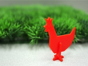 Animal_Chicken in White Natural Versatile Plastic