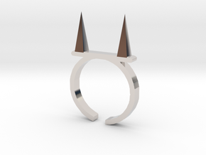 Pickle Fork Ring in Platinum
