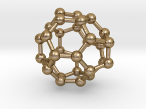 0008 Fullerene c30-3 in Polished Gold Steel