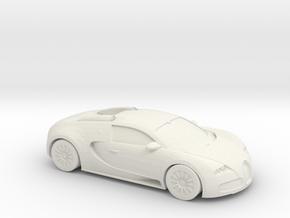 1/87 2005-12 Bugatti Veyron in White Strong & Flexible