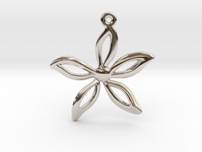 Flower pendant in Platinum