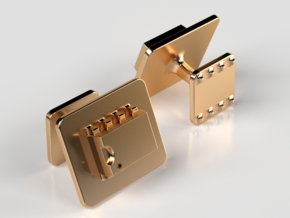 555 Timer Cufflinks in 14K Yellow Gold