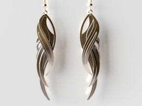 Feather Earrings in 14K Gold