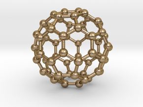 0009 Fullerene c60 ih in Polished Gold Steel