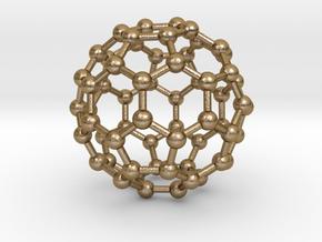 0009 Fullerene c60 ih in Polished Gold Steel