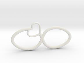 Eternal Heart Pendant in White Natural Versatile Plastic