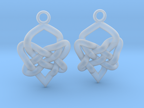 Celtic Heart Knot Earring in Smooth Fine Detail Plastic