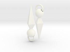 Ishtar Earrings in White Processed Versatile Plastic