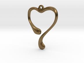 Heart shape pendant in Natural Bronze
