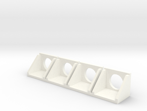 N Culvert headwall 1:160 ø1000mm 4pc in White Processed Versatile Plastic