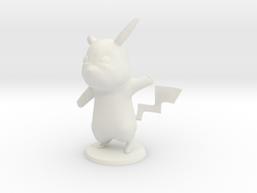 Pikachu in White Natural Versatile Plastic