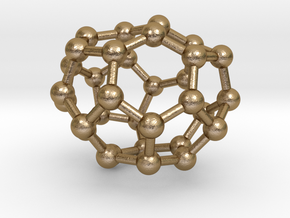 0010 Fullerene c32-1 c2 in Polished Gold Steel