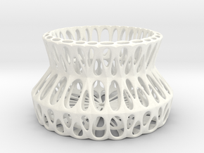 Potpourri Dish (010) in White Strong & Flexible Polished