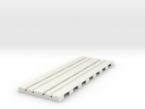 P-65stp-straight-dbl-track-110-pl-1a in White Natural Versatile Plastic