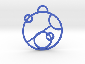 Love In Gallifreyan in Blue Processed Versatile Plastic