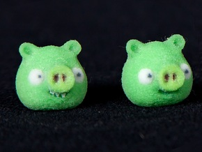 Pig earrings in Full Color Sandstone