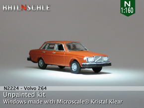 Volvo 264 GL (N 1:160) in Smooth Fine Detail Plastic