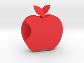 Apple Sculpture in Red Processed Versatile Plastic