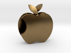 Apple Sculpture in Natural Bronze