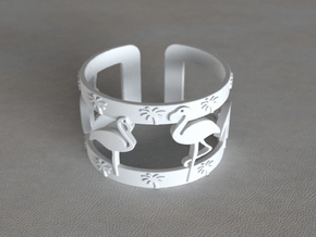 Flamingo Bracelet in White Processed Versatile Plastic