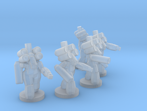 UWN - Infanty Mech Suit Squad in Smooth Fine Detail Plastic
