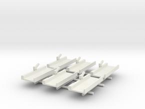 Floating Drydock x6 in White Natural Versatile Plastic