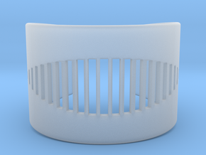 Wrist Cuff - pattern cutout (extra small) in Smooth Fine Detail Plastic