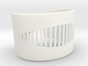 Wristcuff - pattern cutout (small) in White Processed Versatile Plastic