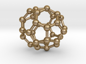 0018 Fullerene c34-3 cs in Polished Gold Steel
