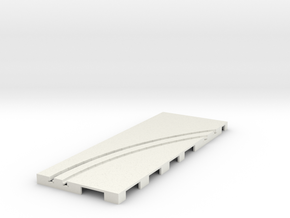 P-65stp-straight-rh-curve-outer-145r-100-pl-1a in White Natural Versatile Plastic