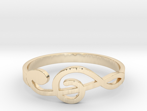Size 7 G-Clef Ring  in 14K Yellow Gold