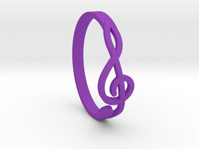 Size 6 G-Clef Ring  in Purple Processed Versatile Plastic