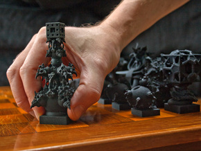 Surreal Chess Set - My Masterpieces - The King in Black Natural Versatile Plastic
