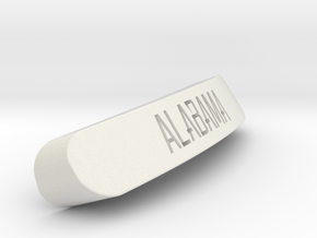 Alabama Nameplate for SteelSeries Rival in White Strong & Flexible