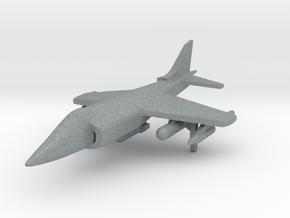 1/285 Scale Harrier w/Ordnance in Polished Metallic Plastic