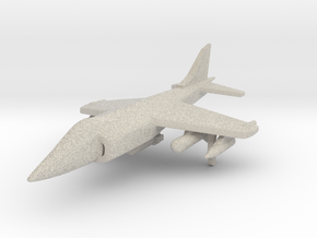1/285 Scale Harrier w/Ordnance in Natural Sandstone